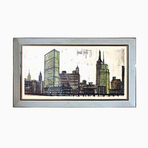 Skyline New York Lithograph von Bernard Buffet, 1958