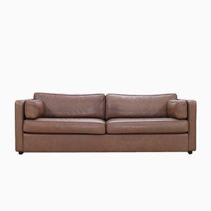 Vintage EJ 430-3 Sofa in Brown Leather from Erik Joergensen