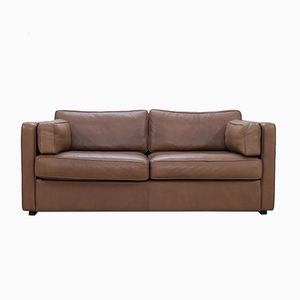 Vintage EJ 430-2 Two-Seater Sofa in Brown Leather from Erik Joergensen