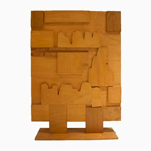 Mid-Century Raumteiler aus Holz