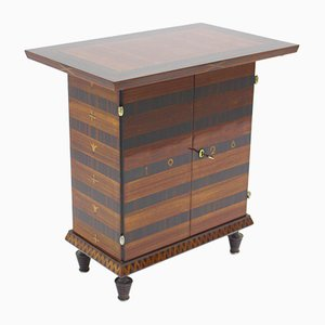 Art Deco Rosewood Veneered Side Table or Cabinet, 1928