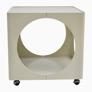 Tavolino Mid-Century moderno bianco, anni '60