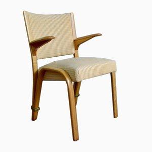 Bow Wood Armlehn Stuhl von Wilhelm Von Bode für Steiner, 1950er