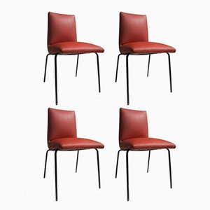 Leatherette Chairs by Pierre Guariche for Meurop, 1960s, Set of 4