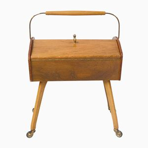 Wooden Sewing Box, 1950s