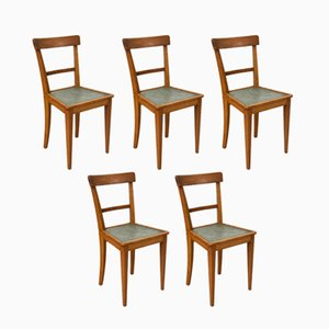 French Bistro Chairs, 1950s, Set of 5