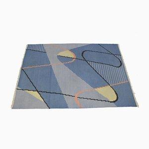 Mid-Century Modernist Geometric Kilim Carpet by Antonín Kybal