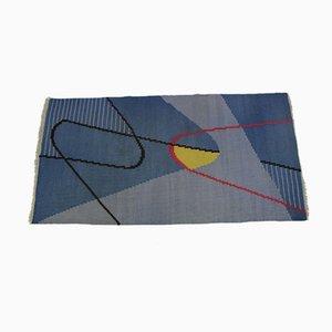 Geometrischer Mid-Century Moderner Kilim Teppich von Antonín Kybal