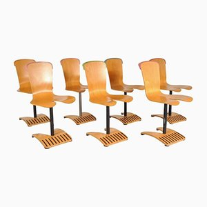 Stacking Chairs by Ruud Jan Kokke, 1980s, Set of 7