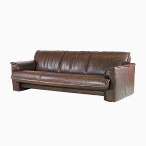 Canapé à 3 Places Vintage en Cuir de Buffle de Leolux, 1970s