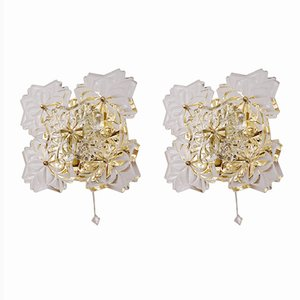Floral Sconces from Solken Leuchten, 1970s