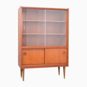 Teak Veneered Display Cabinet, 1960s