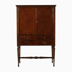 Mid-Century Cabinet in Rosewood Veneer, Glass & Mirror