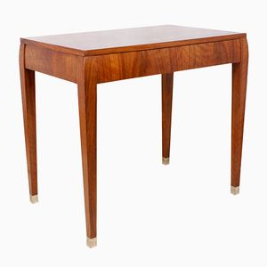 Art Deco Walnut Side Table, 1930