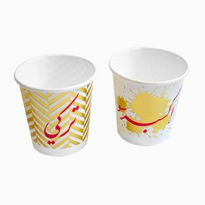 Espresso and Terkeh Paper Cups by Rana Salam Studio, 2018, Set of 2