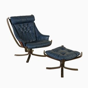 Vintage Armchair in Stained Bentwood & Leather from Poltrona Frau
