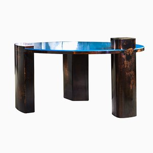 Hand-Patinated Copper Blue Moon Coffee Table by Privatiselectionem for SORS