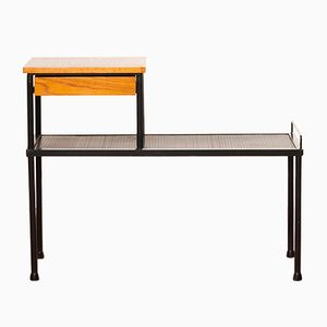 Tavolino in teak e metallo, anni '50