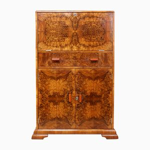 Art Deco Cocktail Cabinet in Walnut, 1930s