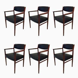 418B Danish Armchairs by Arne Vodder for Sibast, 1960s, Set of 6