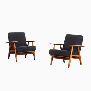 240 B Cigar Armchairs by Hans J. Wegner for Getama, 1960s, Set of 2