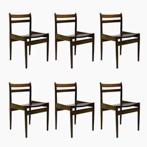 Vintage Esszimmer Stühle von Jos de Mey für Van den Berghe Pauvers, 6er Set