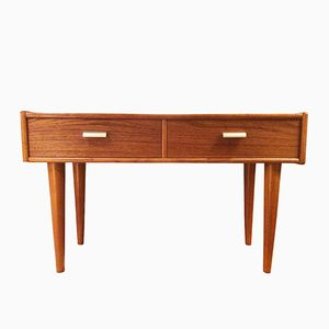 Vintage Swedish Low Chest of Drawers in Teak