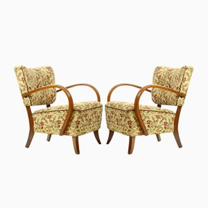 Czechoslovakian H237 Armchairs by Jindrich Halabala, 1930s, Set of 2