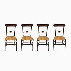 Mid-Century Chiavari Stühle aus Lackiertem Holz, 4-er Set