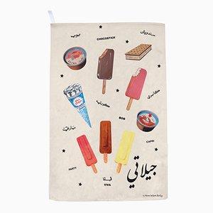 Gilati Ice Creams! Geschirrtuch von Rana Salam Studio