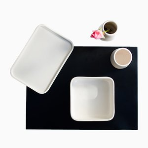 PerInciso Ceramic Tableware Set with Aluminum Tray by Orma