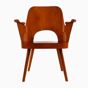 Mid-Century Armlehnstuhl von Oswald Haerdtl für TON, 1950er