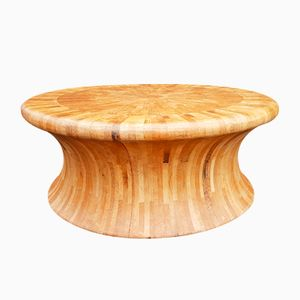 Vintage Wooden Diabolo-Shaped Coffee Table
