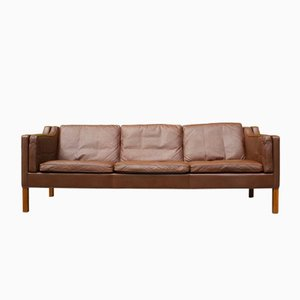 Danish 2213 Leather Sofa by Børge Mogensen for Fredericia, 1960s