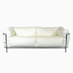 Vintage LC3 Sofa by Le Corbusier, Charlotte Perriand, and Pierre Jeanneret for Cassina