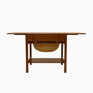 Tavolo da cucito PP33 vintage in teak di Hans J. Wegner per PP Mobler