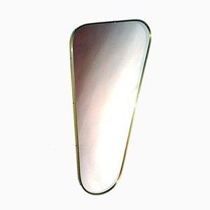 Spiegel mit Rahmen aus Messing von Lachmayr, 1950er