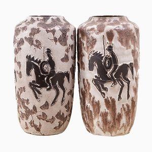 German Vases from Scheurich, 1970s, Set of 2