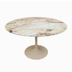 Marble Dining Table by Eero Saarinen for Knoll Inc, 1960s