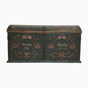 Antique Swedish Wooden Chest
