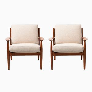 Mid-Century Teak 118 Easy Chairs by Grete Jalk for France & Son, Set of 2