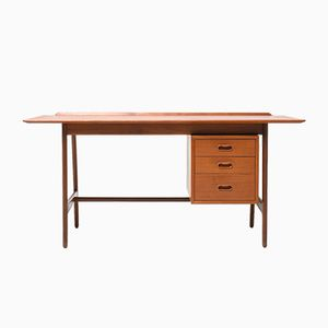 Mid-Century Teak Desk by Arne Vodder for VAMO