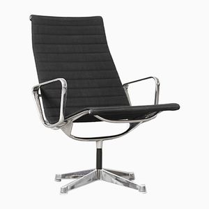 Mid-Century EA 116 Black Lounge Armchair by Ray & Charles Eames for Herman Miller, 1960s