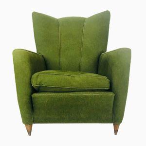 Grüner Sessel aus Samt von Paolo Buffa, 1950er
