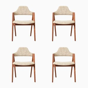 Mid-Century Compass Chairs by Kai Kristiansen for SVA Møbler, Set of 4