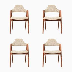 Mid-Century Compass Stühle von Kai Kristiansen für SVA Møbler, 4er Set