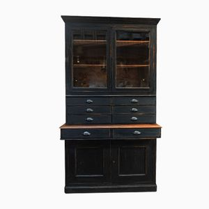 Antique Black Patinated Buffet