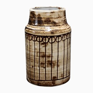 Mid-Century Keramik Vase von Jacques Pouchain