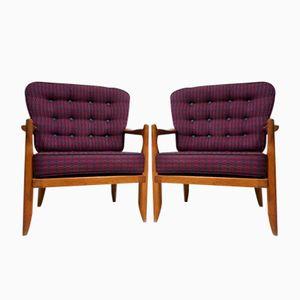 Vintage Armchairs by Guillerme et Chambron for Votre Maison, 1970s, Set of 2