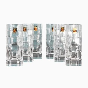 Italian Crystal Glasses by Cini Boeri for Arnolfo Di Cambio, 1973, Set of 6